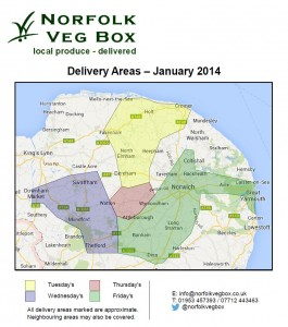 Norfolk Veg Box Delivery Routes