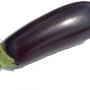A purple aubergine