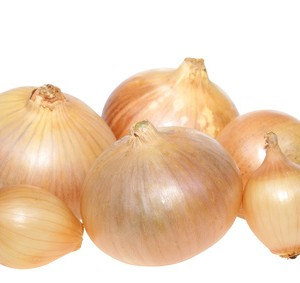 A selection of white onions