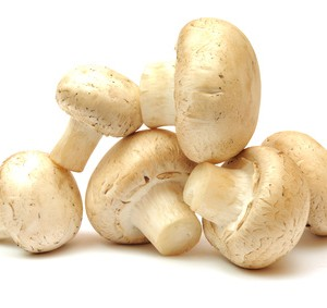 A selection of white cup mushrooms