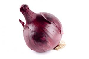 A single Red Onion