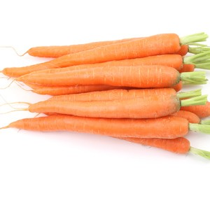 A selection of orange carrots