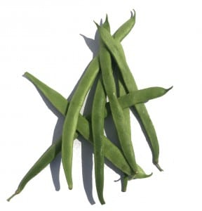 Selection of thin green runner beans
