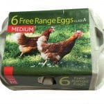 A closed box of eggs