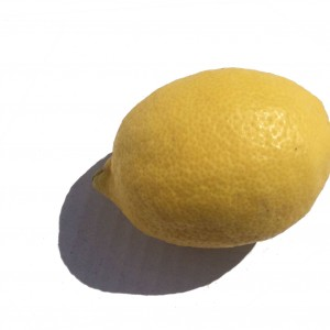 A single Yellow Lemon