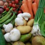 Photo of the contents of our Mixed Veg Box with includes Veg, Fruit and Salad items.
