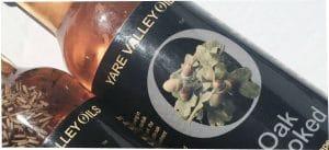 Glass bottle of rape seed oil