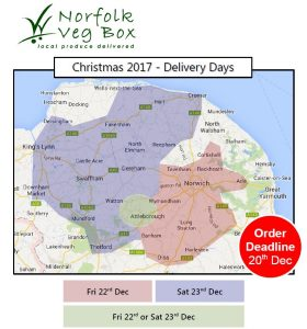 Image of our delivery routes for Christmas deliveries