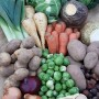 Photo of the contents of the large Christmas Veg box